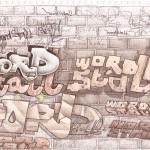 wordstall graffiti